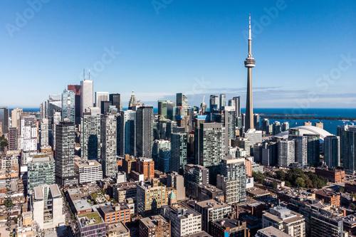 Leinwanddruck Bild Aerial view of Downtown Toronto, Ontario, Canada.