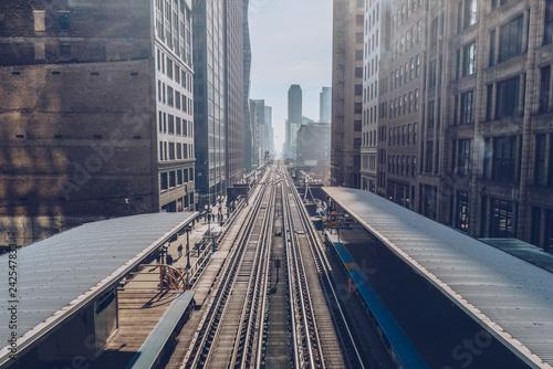 Subway Line in Chicago