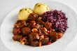 Wild boar or venison goulash with dumplings