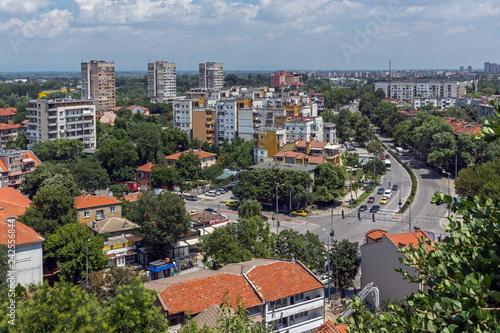 mata magnetyczna Panoramic view of city Plovdiv from Nebet Tepe hill, Bulgaria