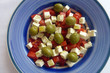 Leinwanddruck Bild - Tomaten Schafskäse Salat