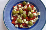 Tomaten Schafskäse Salat