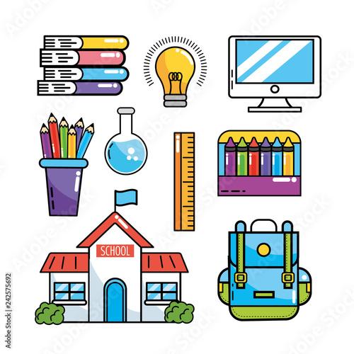 set school education supplies to study