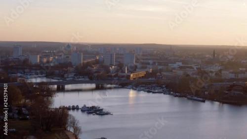 Potsdam skyline at sunset