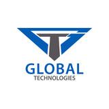 Global techonologies. Initial letter GT, TG logo concept design template