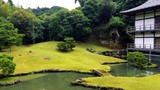 The garden of a big Japnese stronghold inside of a buddhist temple - 242585674