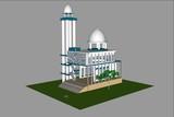 3d building model vector - 242587634