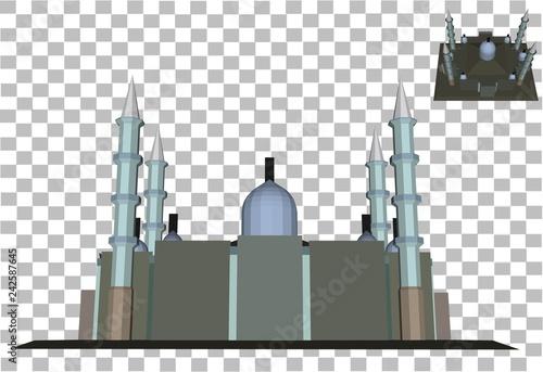 3d building model vector