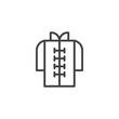 Asian dress line icon. linear style sign for mobile concept and web design. Chinese clothes outline vector icon. Symbol, logo illustration. Pixel perfect vector graphics