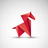 koń origami wektor - 242596206