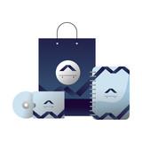 corporate merchandise elements cartoon - 242599647