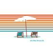 Vacation and travel concept. Beach umbrella, beach chair. - Relax