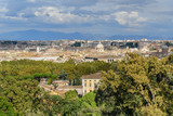 Arial view of Rome city from Janiculum hill, Terrazza del Gianicolo. Rome. Italy