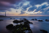 Punta del Hidalgo lighthouse,Tenerife.Slow shutter speed - 242614835
