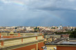 Quadro Rainbow over Rome. Arial view of Rome city from Janiculum hill, Terrazza del Gianicolo. Rome. Italy