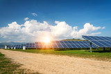 Solar panels, photovoltaics, alternative electricity source - concept of sustainable resources - 242616610
