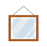 square mirror cartoon - 242618614