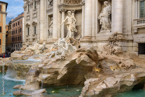 Fontana di Trevi or Trevi Fountain. Rome. Italy