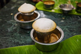 Traditional Indian Masala tea in metal cup - 242619029