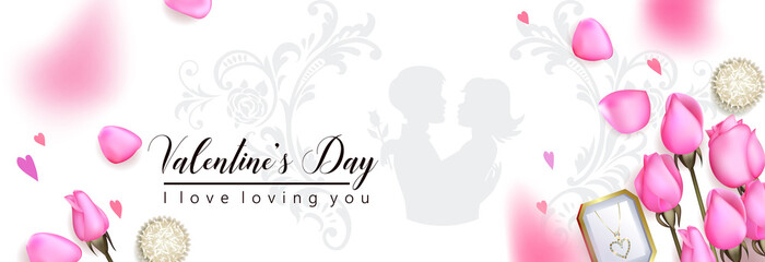Beautiful romantic backgroung with pink roses © Maria