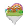 cute fairytale landscape scene - 242622405