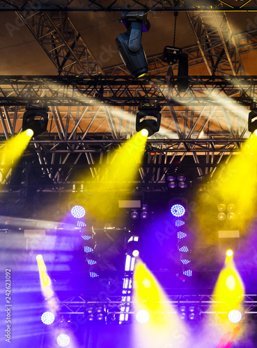 Light on the stage as an abstract background - 242623092