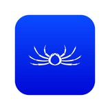 Japanese spider crab icon digital blue for any design isolated on white vector illustration - 242624614
