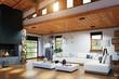 Modern chalet interior - 242636885