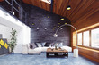 Leinwandbild Motiv modern loft living room interior.