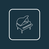 Piano icon line symbol. Premium quality isolated octave element in trendy style. - 242641079