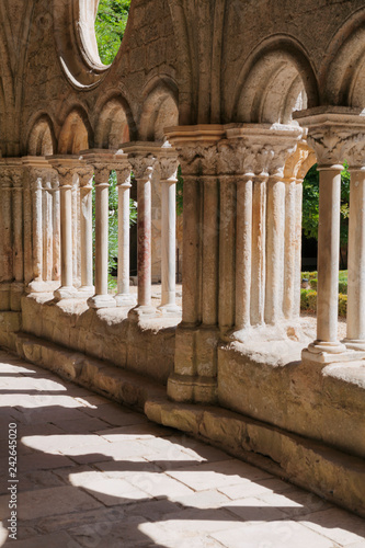 Cloister in an abbey in the south of France