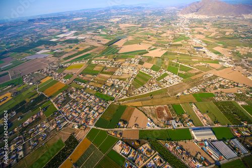 Foto Murales landscape photo taken from air