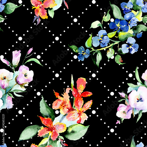 [Color] [name]. Floral botanical flower. Wild spring leaf wildflower isolated. Watercolor background illustration set. Watercolour drawing fashion aquarelle isolated.