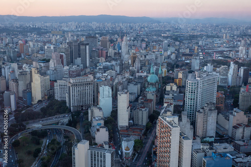Foto Murales Aerial view from Sao Paulo