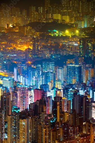 fototapeta na ścianę Hong Kong skyline view from Sky 100 observation deck,
