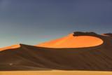 Sossusvlei salt pan with high red sand dunes in Namib desert, Namibia, Africa. - 242666487