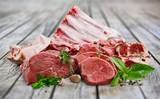 Fresh Raw Meat on desk - 242671668