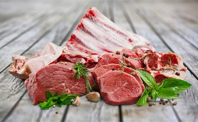 Fresh Raw Meat on desk © BillionPhotos.com