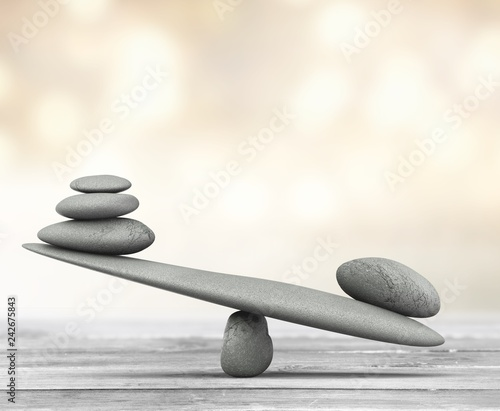 Zen basalt stones  on background - 242675843