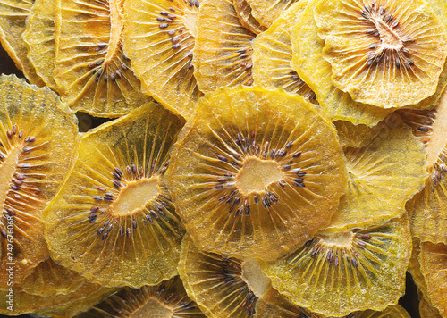 dried kiwi texture as very nice natural background