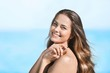 Quadro Outdoor summer portrait of pretty young smiling happy woman