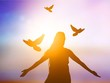 Quadro Peace abstract alone background bird christian concept