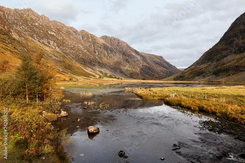 Leinwandbild Motiv Glen Coe in Highlands Scotland