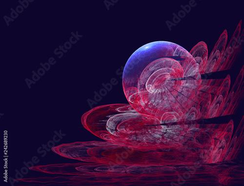 abstract pearl, futuristic 3d illustration