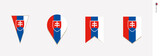 Slovakia flag in vertical design, vector illustration