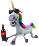 Fun unicorn - 3D Illustration - 242696499