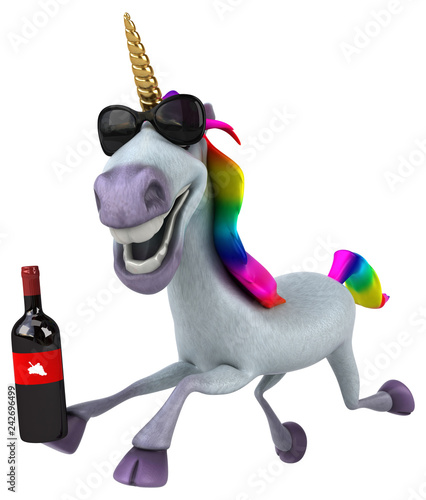 Obraz na płótnie Fun unicorn - 3D Illustration