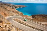 Scenic coastal road on Crete island in Greece