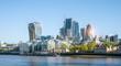Leinwanddruck Bild - modern office buildings skyscraper in London city