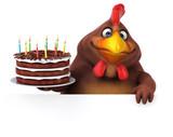 Fun chicken - 3D Illustration - 242697267